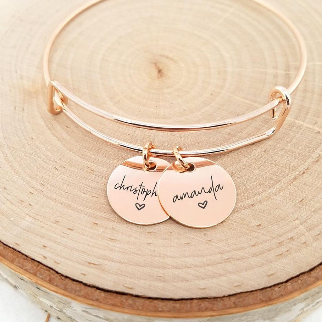 Personalized Rose Gold Name Bracelet