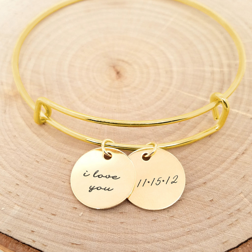 Personalized Anniversary Bracelet - Gold