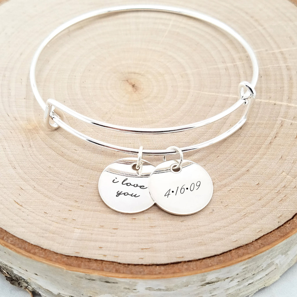 Personalized Anniversary Bracelet - Sterling Silver