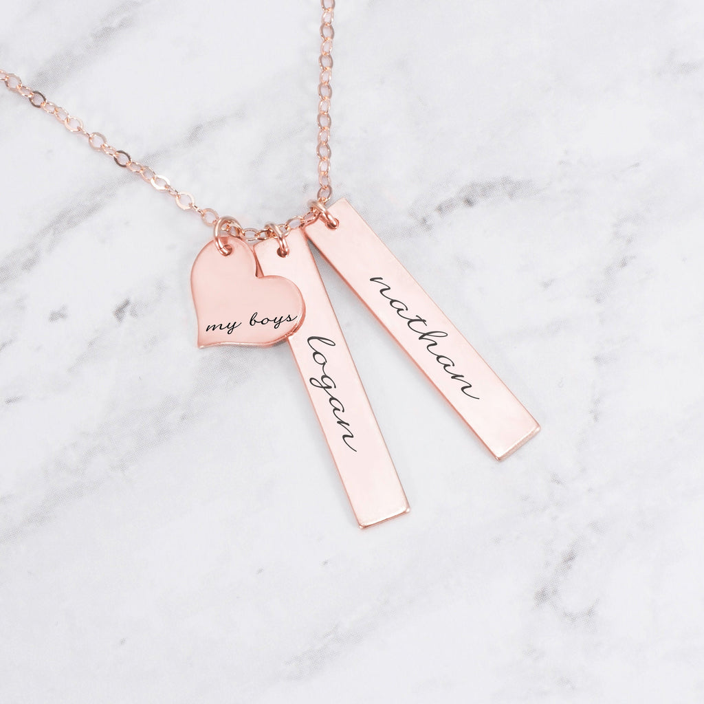 Personalized Mom Necklace - My Boys Necklace