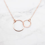 Sisters Necklace - Set of 2 Matching Rose Gold Sisters Necklaces