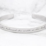 She Believed She Could So She Did Mantra Bracelet