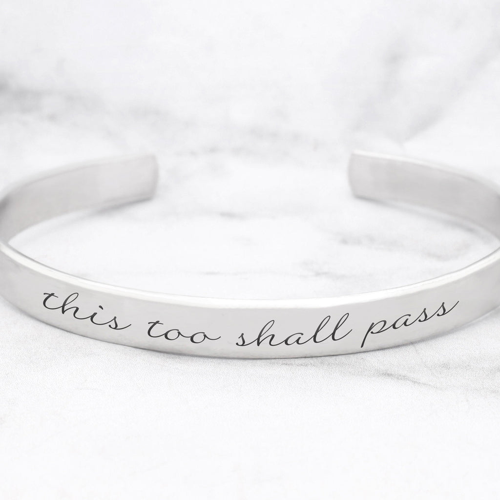 This Too Shall Pass Mantra Bracelet