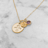 You Are My Sunshine - Personalized Initial Necklace