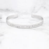 Always In My Heart Mantra Bracelet