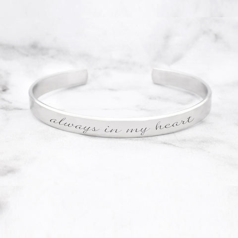 One Day At A Time Mantra Bracelet
