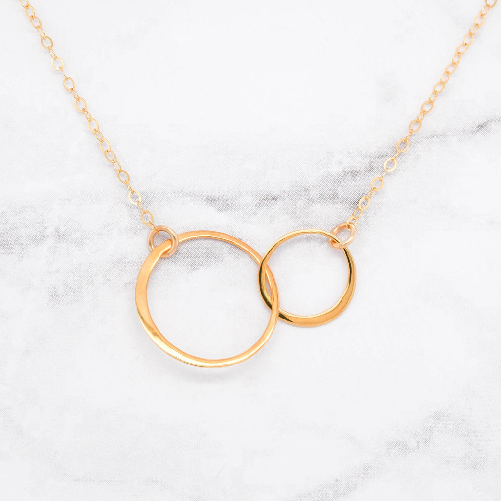 Sisters Necklace - Set of 2 Matching Gold Sisters Necklaces