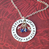 Personalized Necklace with Kids Names and Birthstones