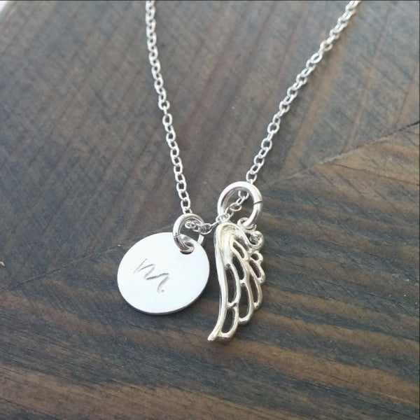 Personalized Angel Wing Necklace