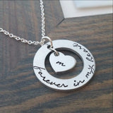 Personalized Forever In My Heart Necklace - With Cut Out