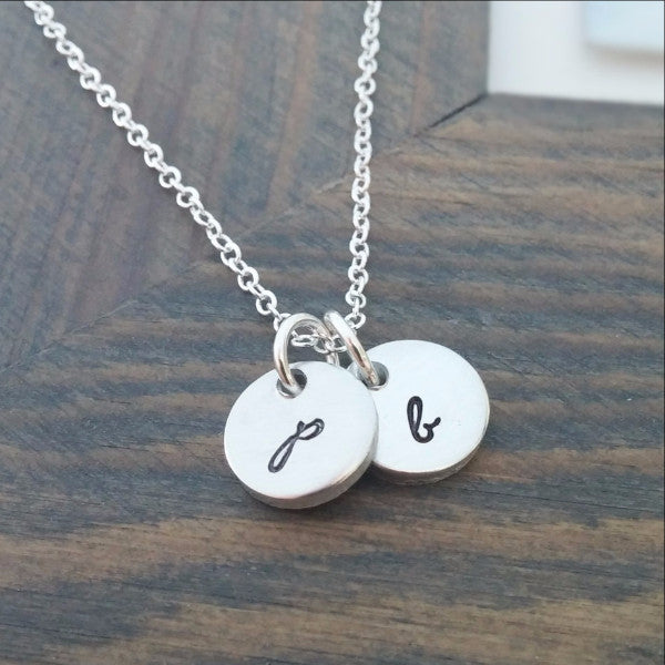 Personalized Initial Discs Necklace