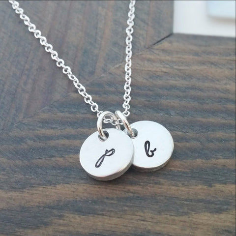 Personalized Sterling Silver Cross Charm Necklace
