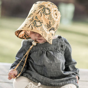 Puffin Gear Organic Cotton Fall Harvest Bonnet-Made in Canada