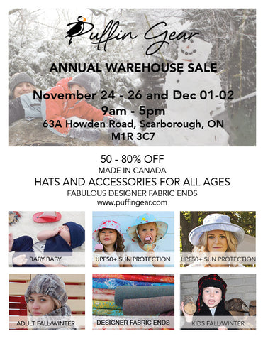 Puffin Gear Annual Warehouse Sale 2017