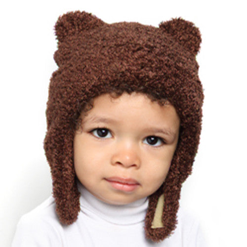 Puffin Gear Polartec® 300 Series Fleece Teddy Bear Child Hat