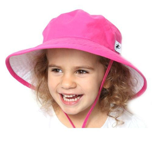 UPF 50+ Sun Protection-Puffin Gear Organic Cotton Child Sunbaby Hat-Made in Canada