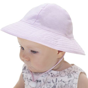 UPF 50+ Sun Protection-Puffin Gear Cotton Oxford Infant Sunbeam Hat-Made in Canada
