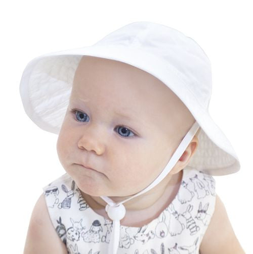 UPF 50+ Sun Protection-Puffin Gear Infant Sunbeam Hat-Made in Canada