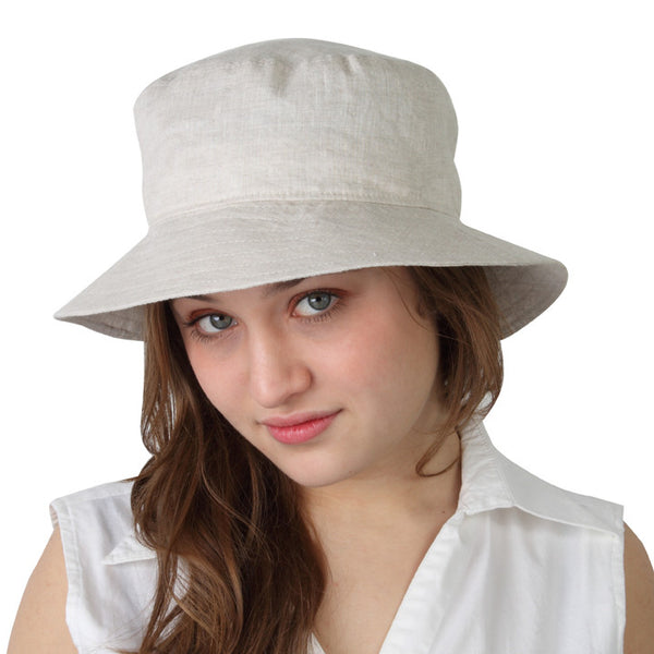Puffin Gear Summer Breeze Linen Crusher Hat - UPF 50+ - Made in Canada