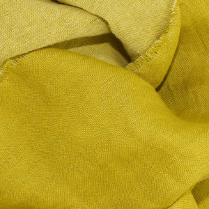 Linen Wool Fringed Fall Scarf-Chartreuse-Puffin Gear-Made in Canada