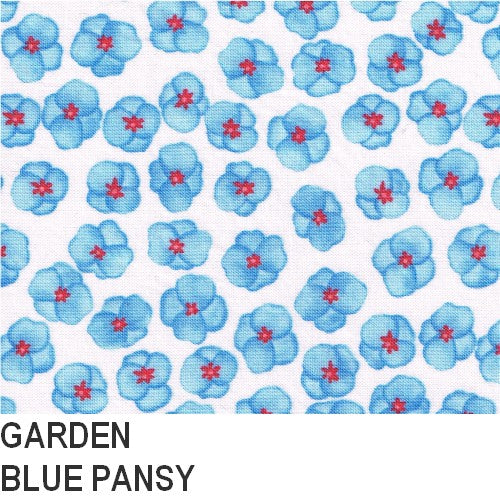 Puffin Gear Blue Pansy Print