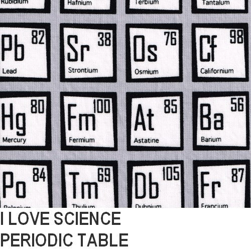 Puffin Gear I Love Science Periodic Table Print