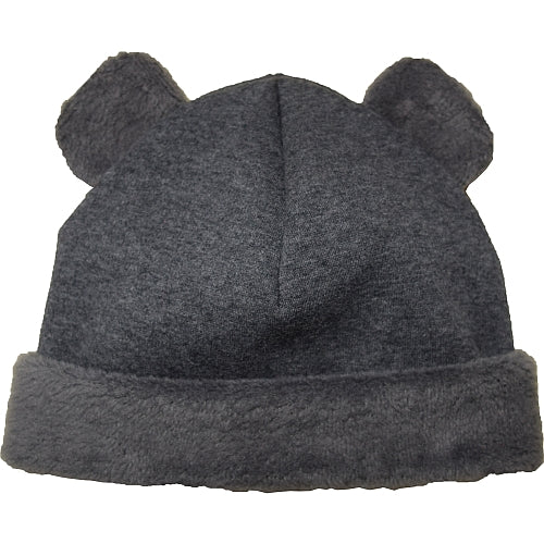Puffin Gear Jersey Cuddle Infant Bear Beanie-Charcoal-Made in Canada