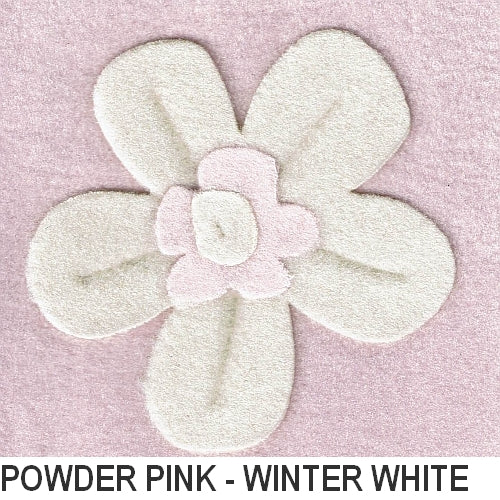 Puffin Gear Polartec Classic 200 Fleece - Powder Pink/Winter White - Made in Canada
