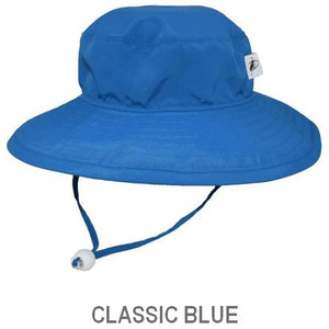 UPF 50+ Sun Protection-Puffin Gear Child Wide Brim Sunshine Hat-Made in Canada-Classic Blue