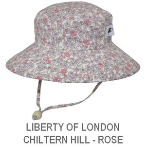Puffin Gear Child Wide Brim Sun Protection Hat-Made in Canada-Liberty of London Chiltern Hill Rose