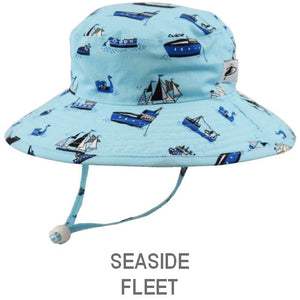 Puffin Gear Child Wide Brim Sun Protection Hat-Made in Canada-Seaside-Fleet