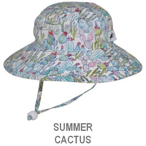 Puffin Gear Child Wide Brim Sun Protection Hat-Made in Canada-Summer-Cactus