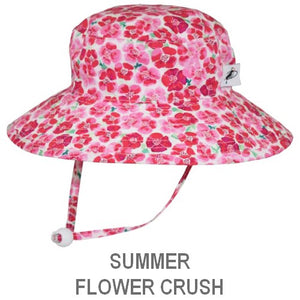 Puffin Gear Child Wide Brim Sun Protection Hat-Made in Canada-Summer-Flower Crush