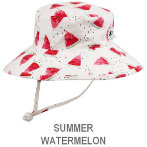 Puffin Gear Child Wide Brim Sun Protection Hat-Made in Canada-Summer-Watermelon