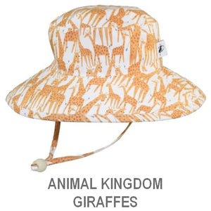 Puffin Gear Child Wide Brim Sun Protection Hat-Made in Canada-Animal Kingdom-Giraffes