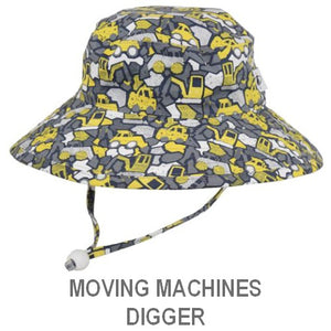 Puffin Gear Child Wide Brim Sun Protection Hat-Made in Canada-Moving Machines-Digger