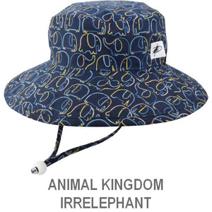 Puffin Gear Child Sun Protection Hats-Animal Kingdom-Irrelephant-Made in Canada