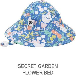 Puffin Gear Infant Sun Protection Sunbeam Hat-Made in Canada-Secret Garden-Flower Bed