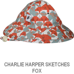 Puffin Gear Infant Sun Protection Sunbeam Hat-Made in Canada-Charlie Harper Sketches-Fox