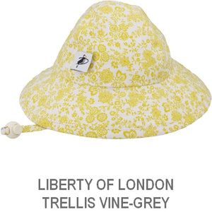 Puffin Gear Infant Sun Protection Sunbeam Hat-Liberty of London-Trellis Vine-Gold