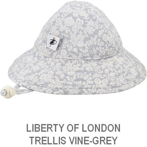 Puffin Gear Infant Sun Protection Sunbeam Hat-Liberty of London-Trellis Vine-Grey