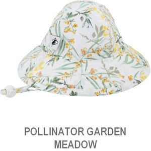 Puffin Gear Infant Sun Protection Sunbeam Hat-Pollinator Garden-Meadow