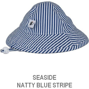 Puffin Gear Infant Sun Protection Sunbeam Hat-Liberty of London-Seaside Natty Stripe-Blue