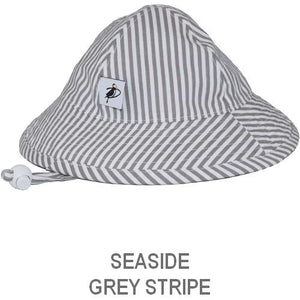 Puffin Gear Infant Sun Protection Sunbeam Hat-Liberty of London-Seaside Natty Stripe-Grey