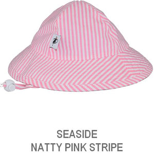 Puffin Gear Infant Sun Protection Sunbeam Hat-Liberty of London-Seaside Natty Stripe-Pink