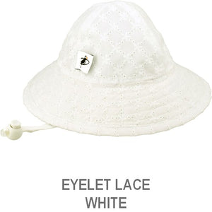 Puffin Gear Infant Sun Protection Sunbeam Hat-Liberty of London-Eyelet Lace-Whitey