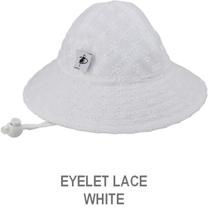 Puffin Gear Infant Sun Protection Sunbeam Hat-Liberty of London-Eyelet Lace-White