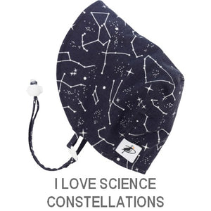 Puffin Gear Infant and Toddler Sun Protection Bonnet-Made in Canada-I Love Science-Constellation