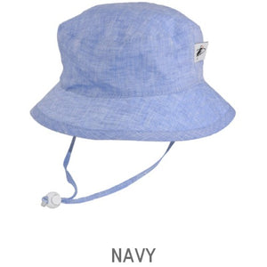 Puffin Gear Summer Day Linen UPF50 Sun Protection Child  Camp Hat-Navy