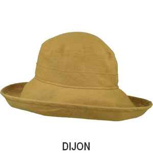 Puffin Gear Patio Linen UPF50+ Sun Protection Wide Brim Classic Hat-Dijon-Made in Canada
